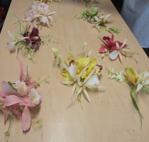 2012 students floral sprays made with Janet Foster
