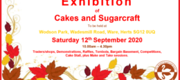 Exhibition of Cakes & Sugarcraft – Region 7: Chiltern Hills & East Anglia