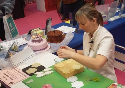 DEMONSTRATING ON THE BSG STAND AT A SHOW