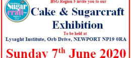 Cake & Sugarcraft Exhibition – Region 5: Wales & The West