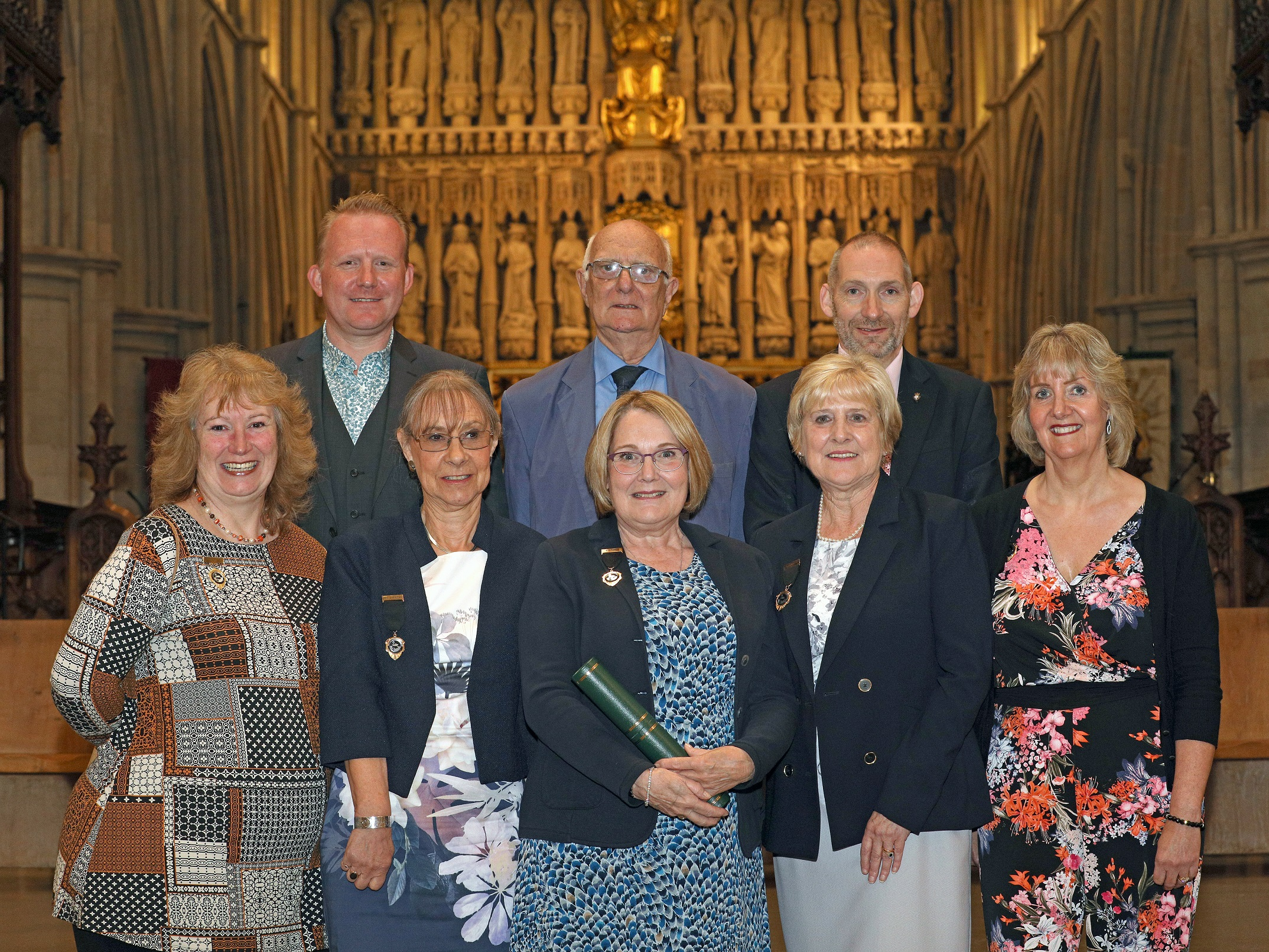 Andrew, Frank, Gary, Carolyn, Judith, Judy, Marilyn & Jan at Southwark Cathedral