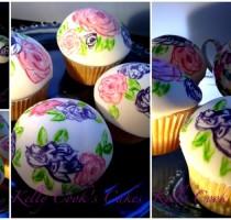 Sugarpaste - Kelly Cook Individual member R7 painted cupcake