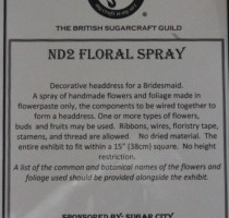 ND2 Class - Floral Spray