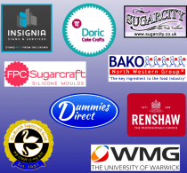 Our sponsors: Sugarcity | WMG, University of Warwick | Dummies Direct | FPC Sugarcraft Ltd | Bako North Western Preston | Renshaw Baking | Doric Cake Crafts | Insignia Signs & Services