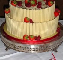 R5 Sarah Churchill Individual Member </br>Chocolate and Strawberries Wedding Cake