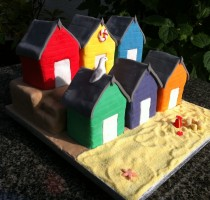 Sugarpaste - Sue Marley Hillingdon Branch R8 Beach huts