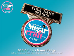 BSG Colours name Badge