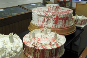 Damaged tiers from the original cake