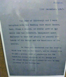 1947 letter from HM The Queen