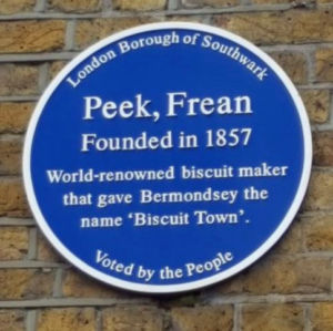 Peek Frean's Blue Plaque