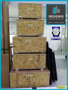 Transport boxes made by Insignia