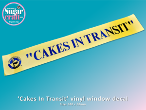 Cakes In Transit Decal