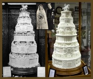 the queen's cake replica - then & now