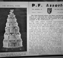 Peek Frean's Club Journal article (published in 1947) about the original cake.